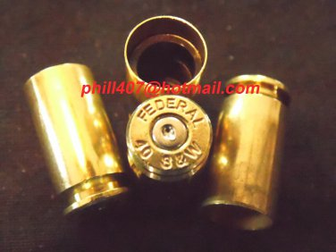 Bullet Valve Stem Caps X 4 / Smith & Wesson .40 Caliber Brass Tire Stem Caps