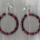 SALE!  Denver Broncos colors HOOP Earrings 1.5 inch wide