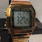 Casio Gold TONE Retro Vintage Classic Alarm Digital Watch A-178WGA-1A NEW UNISEX