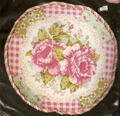 **Roses With Quilt Border Needlepoint KIT