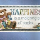 **Janlynn -Happiness is a Matching Pair of Socks Cross Stitch KIT
