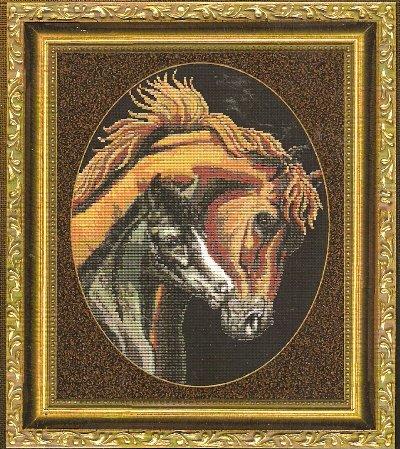 **A Mother's Love Horse Cross Stitch Pattern Kustom Krafts 2004