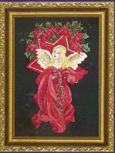 **Christmas Angel Cross Stitch Pattern Kustom Krafts 2002