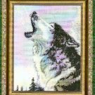 **HOWLING WOLF CROSS STITCH PATTERN - KUSTOM KRAFTS 2003