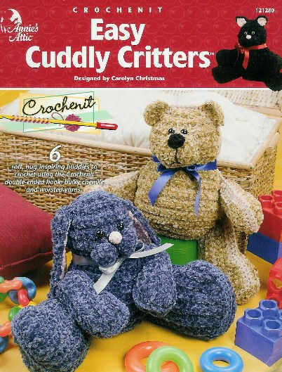 **Crochenit * 6 * Easy CUDDLY Critters - Annie's Attic Pattern