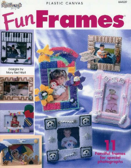** 11 * Fun Frames in Plastic Canvas PIANO Rainbow BABY