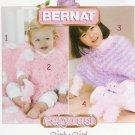 **Crochet/Knit Bernat BABY Poncho Pattern  TOY PIG Daisy Edge Blanket