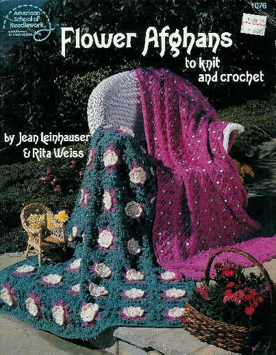 **Crochet/Knit FLOWER AFGHAN Patterns - Roses - Queen Ann's Lace