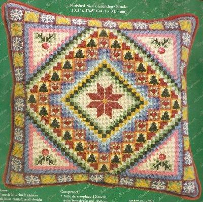 **Christmas Noel Patchwork Needlepoint KIT JANLYNN 2001