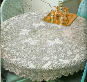Crochet Tablecloth : ROUND CROCHET TABLECLOTH PATTERNS Crochet For Beginners