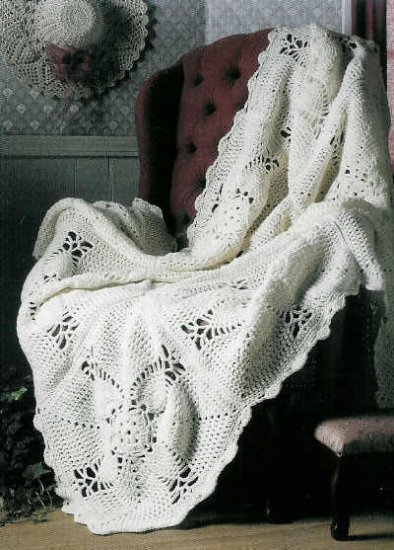 Annie's Attic Pineapple Home Accents * 24 * PINEAPPLE Crochet Afghan TREESKIRT Stocking +*