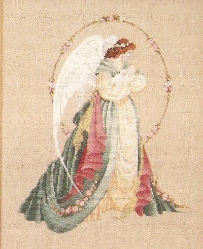 **Lavender & Lace Cross Stitch KIT Gardian Angel