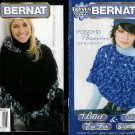 **BERNAT * 4 * Poncho Patterns in Sizes Small to 5XLarge