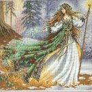 **Cross Stitch KIT - WOODLAND ENCHANTRESS Gold Collection