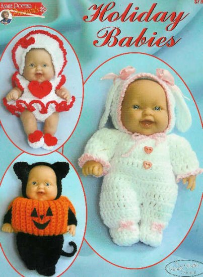 "**Annie Potter Presents: HOLIDAY BABIES for 8"" and 12"" Dolls *"