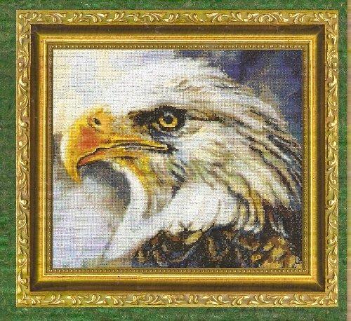 **Bird Of Prey CROSS STITCH Kustom Krafts 2003 EAGLE 2 *
