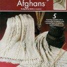 **Annie's Attic * 5 * Knit ARAN ARTISTRY Afghan Patterns *