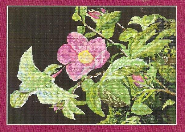**Hummingbird CROSS STITCH Kustom Krafts Near North Treasures 2003