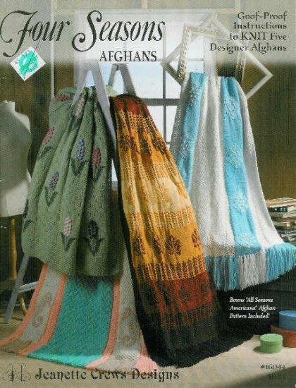 **KNIT * 5 * GOOF Proof Designer Afghan Patterns SEAHORSE +