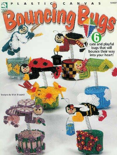 ** 6 * Cute BOUNCING BUGS Plastic Canvas Pattern LADYBUG +