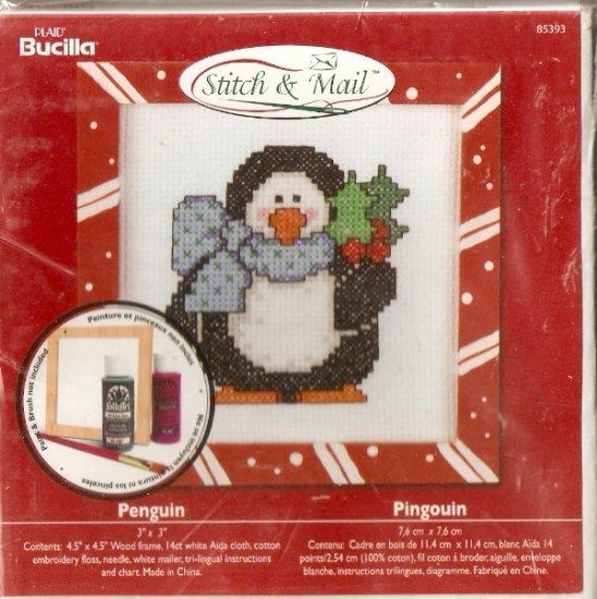 **Christmas Stitch & Mail Cross Stitch KIT CUTE PENGUIN 2006