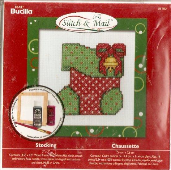 **Christmas Stitch & Mail Cross Stitch KIT STOCKING 2006