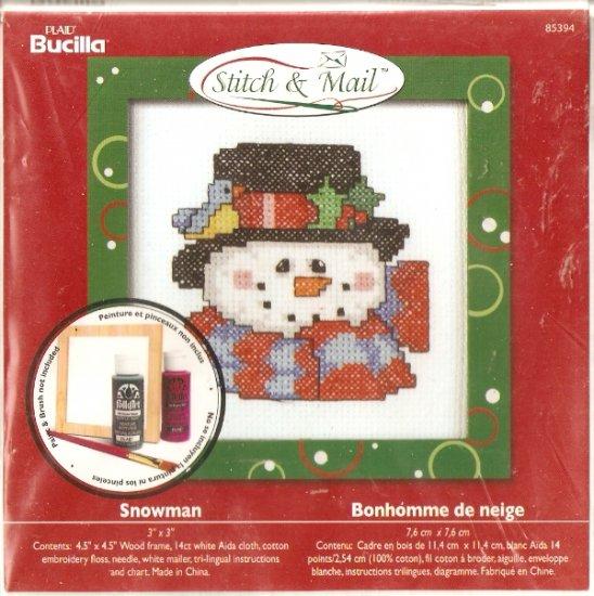 **Christmas Stitch & Mail Cross Stitch KIT SNOWMAN 2006