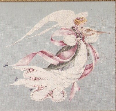 ** Lavender & Lace ANGEL OF SPRING Cross stitch Pattern #23