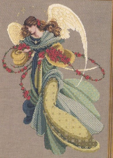 ** Lavender & Lace ANGELICA Cross stitch Pattern # 44