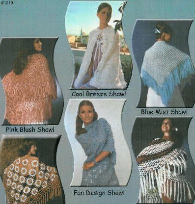 **5* Lacy Shawls to Crochet - *1* to Knit Patterns