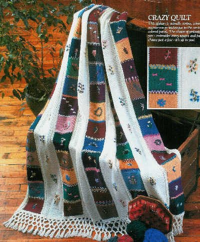 ** 8 * Knitted Afghan Patterns - Snowflake - Intarsia - Fleur de Liz