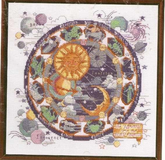 **Just A Chart Cross Stitch Pattern - Astrological -Celestial Picture