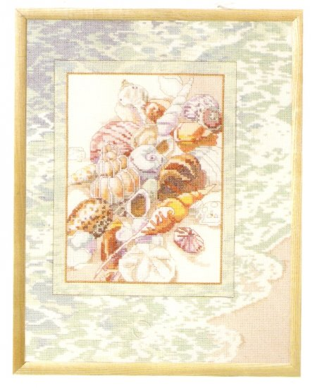 **Just-A-Chart Cross Stitch SEASHELL TRANQUILITY Janlynn 2003