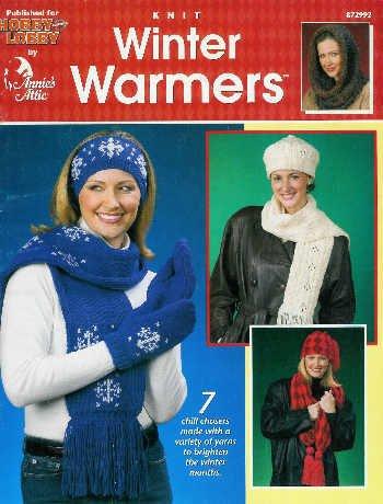 **Annie's Attic * 7 * Winter Warmers Caps Scarfs COWL HOOD Patterns
