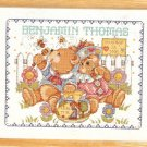 **Just-A-Chart Cross Stitch HONEY BEARS BIRTH ANNOUNCEMENT  Janlynn 2000