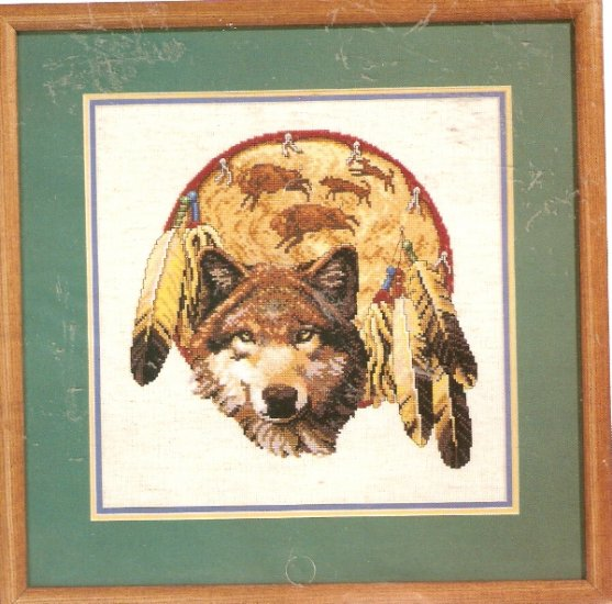 **Just A Chart Cross Stitch BROTHER WOLF Dreamcatcher Janlynn 2001