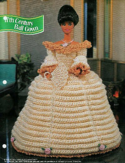 **Annie's Attic 17th Century Ball Gown - Doll Crochet Club 1995