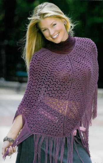 ** 4 * Knit Bulky Weight Poncho Patterns