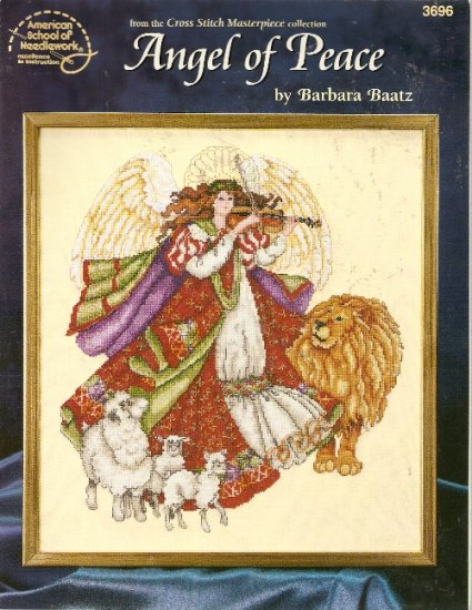 Angel of Peace Cross Stitch Pattern ASN Barbara Baatza 1997