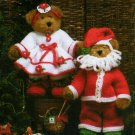"**Christmas Crochet  - Knit/Crochet Mr & MRS Santa Claus - Fits 12"" Jointed Bears"