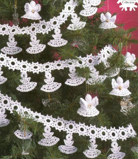 White Christmas Collection Crochet Angel Garland And