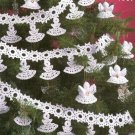 **White Christmas Collection - Crochet ANGEL Garland and Heavenly Ornaments