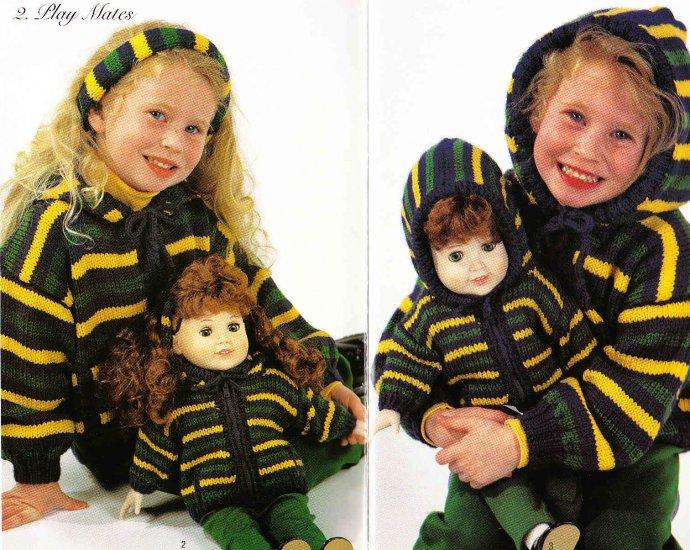 Knit/Crochet - For Dolly & Me - Hooded Sweater Crochet Vest +