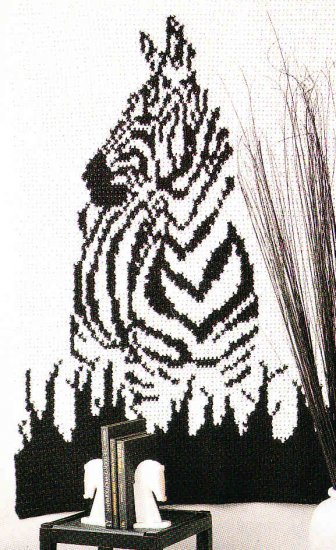 Crochet ZEBRA Wall Hanging Puppy/Bunny Slippers Hooded Scarf +
