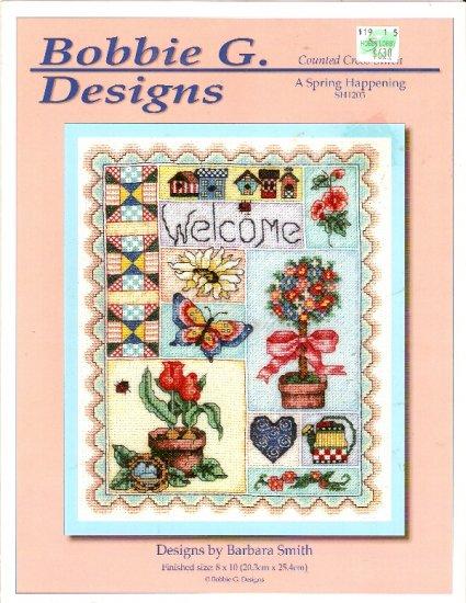 **Cross Stitch BOBBIE G. DESIGNS Spring Happening Collage