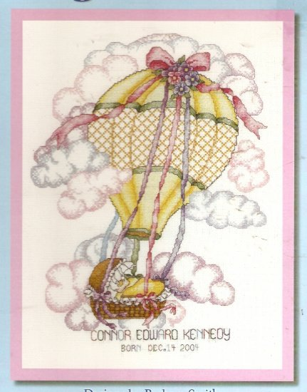 **Cross Stitch BOBBIE G. DESIGNS Special Delivery Birth Announcement