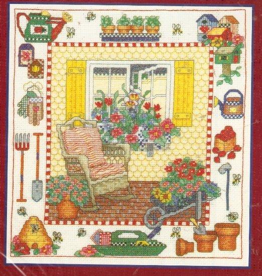 **Cross Stitch Pattern BOBBIE G. DESIGNS -GARDEN WINDOW