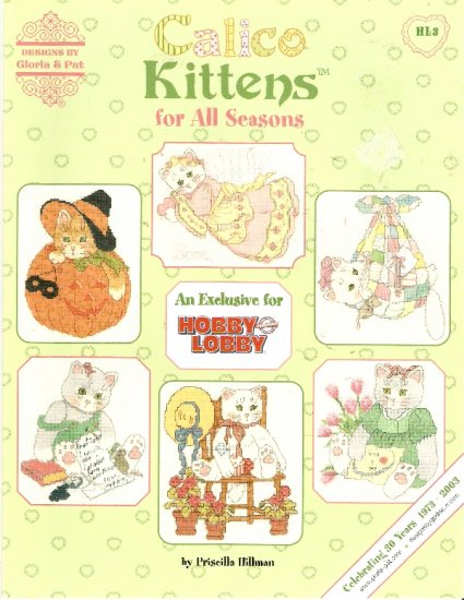 OOP **Calico Kittens for All Seasons 6 Cross Stitch By Gloria & Pat