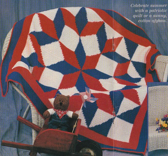 Crochet BROKEN STAR Afghan Pattern Girl/Doll Matching Sweaters