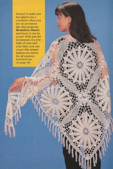Crochet LACY SHAWL SouthWest THROW RipplePopCorn afghan Ptns